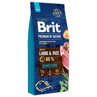 Корм для собак Brit Premium by Nature Sensitive Lamb & rice