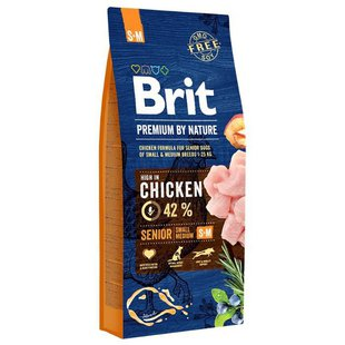 Корм для собак Brit Premium by Nature Senior S+M