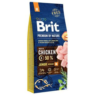 Корм для собак Brit Premium by Nature Junior M