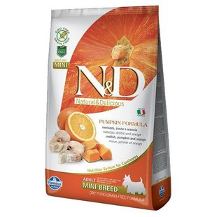 Корм для собак Farmina N&D Grain-Free Canine Pumpkin Codfish & Orange Adult Mini