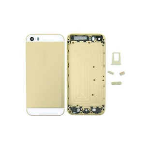 Корпус для Apple iPhone 5S + держатель sim (М0943078) (шампань, вставки белые)